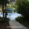 short walkway to community pool
