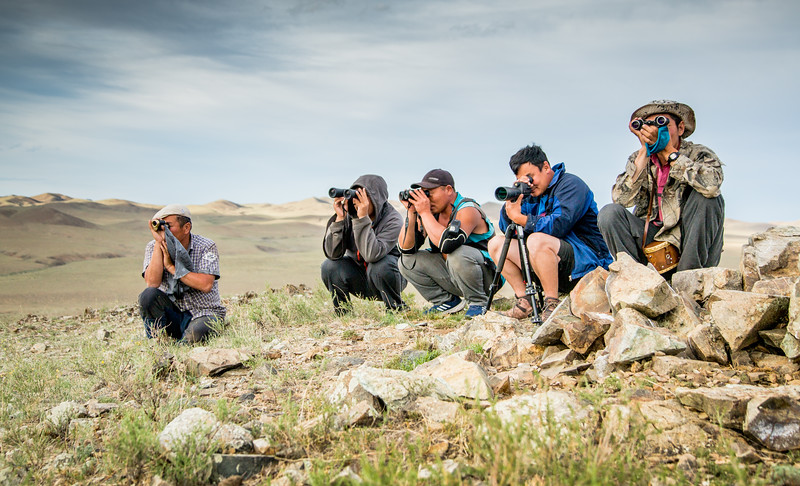 Behind the scenes of Big Cats - In Mongolia the crew joined a research team who have been studying Pallas's cats here for almost 20 years. Altanbulag