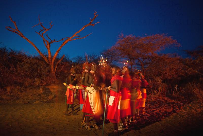 Local people in traditional dress, Samburu, Kenya in traditional dress, Samburu, Kenya
