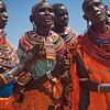 Samburu women dancing