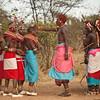 Local community in traditional dress, Samburu, Kenya
