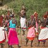 Local community dancing in traditional dress, Samburu, Kenya
