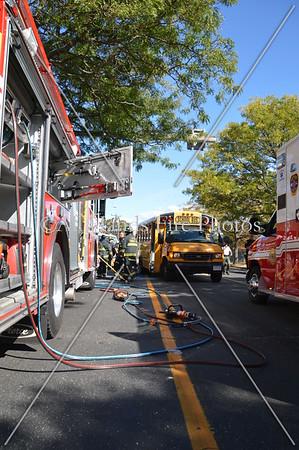 20130930 - Farmingdale - Truck Vs School Bus