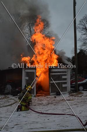 20140102 - Bayville - Garage Fire