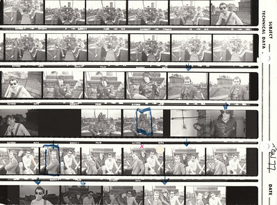The Police: Contact Sheet from 1st Photo Shoot (Jan 1977)