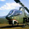 """""""Cobra"""" helicopter at FSB Buttons, Vietnam"""