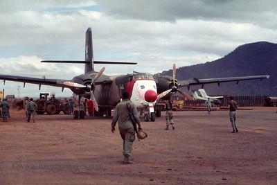 """Santa"" plane (Caribou) , FSB Buttons, Vietnam"