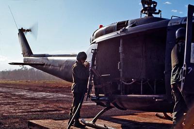 """Huey"" refueling, Vietnam"