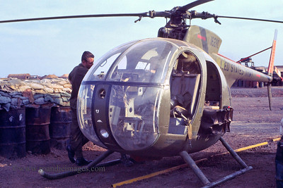 "Light observation helicopter (""LOH"") with PSYOPS spreakers- Phuoc Vinh, Vietnam"