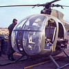 """Light observation helicopter (""""LOH"""") with PSYOPS spreakers- Phuoc Vinh, Vietnam"""