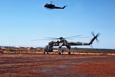 """""""Flying Crane"""" CH54 & """"Huey"""", Vietnam"""