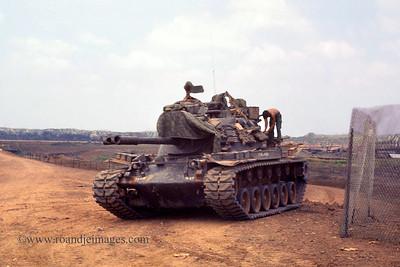 Tank by Song BE Bridge, Vietnam