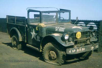 """B52"" three quarter ton truck, FSB Buttons, Song Be, Vietnam"