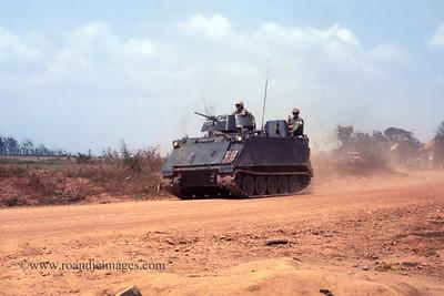 Armored vehicle near Phuoc Vinh,  Vietnam