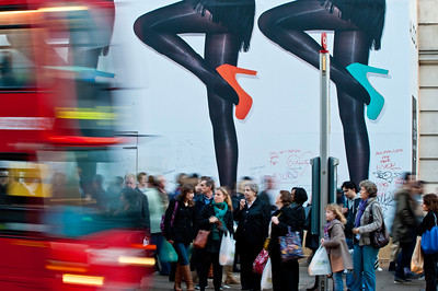 Oxford Street busy with shoppers, London, United Kingdom