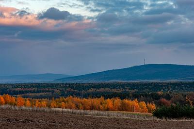 Autumn view of Swietokrzyskie Mountains, Poland