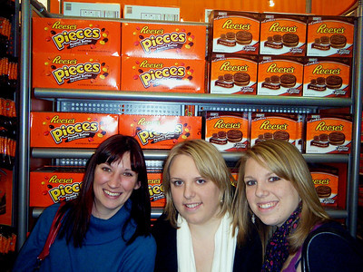 Charlotte, Diana and Kourtney made much ado about the Reese's Pieces.