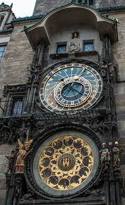 Astronomical Clock on the side of the Old Town Hall Tower