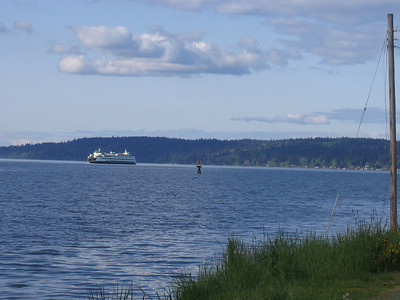The Bremerton ferry steaming to Seattle
