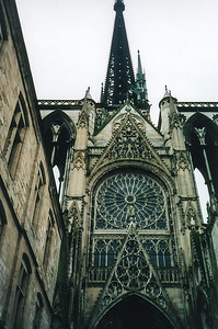 Outside the Rouen Cathedral