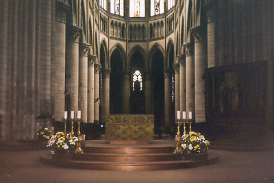 Inside the Rouen Cathderal