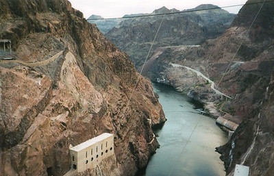 Hoover Dam Looking Down at the Colorado River