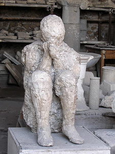 Plaster Cast of a Victim