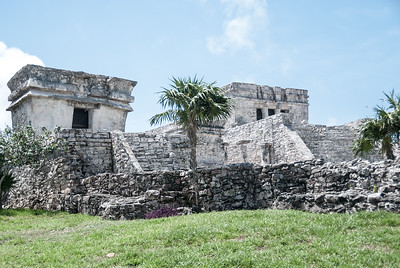 Tulum - Temple of the Descending God and El Castillo