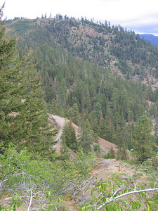 HEre's part of the highway you can see from near the summit.