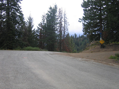 Old Blewett Pass and the turn off to the summit.