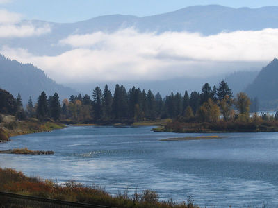 Fall morning along the Clark Fork valley in Montana