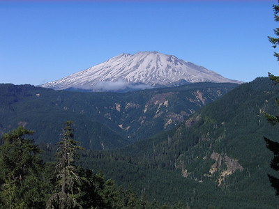 Eastern exposure of Mt St Helens in the morning.
