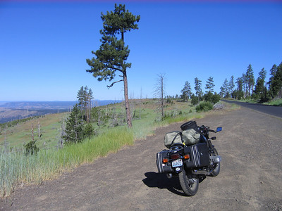 Coming down out of the blue mountains into the Central Oregon high country.