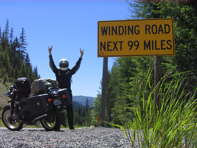 Just over the idaho side of Lolo pass. Let the ride begin!!!!!!