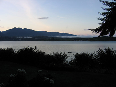 Sunrise over Lake Quinault on the Olympic Penninsula