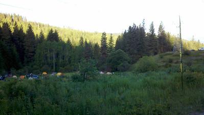 Early morning at camp