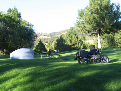 Campsite at Curlew Lake north of Republic