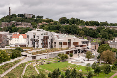 Carlton Hill and Parliment from Holyrood Park