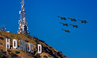 Blue Angeles Hollywood Flyby