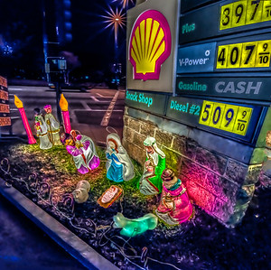 Gas Station Nativity