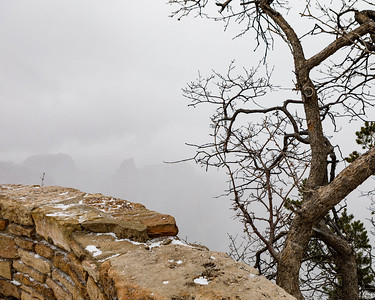Grand Canyon during a Snow Storm