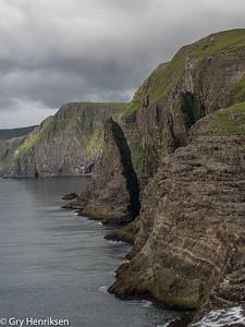 Coastline of Faroe island