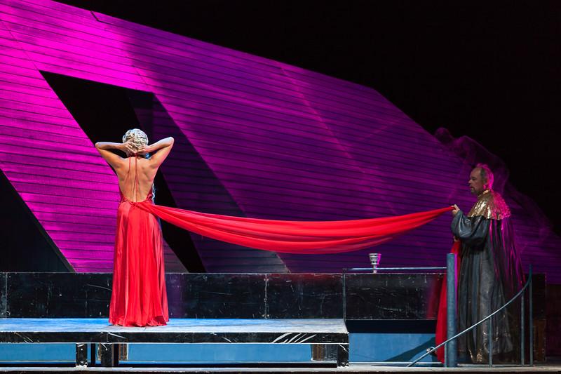 "Nicola Beller Carbone (soprano) sings Nyssia in the opera ""Der König Kandaules"" (Alexander von Zemlinsky 1935, ended Anthony Beaumont 1996). Teatro de la Maestranza, Seville."