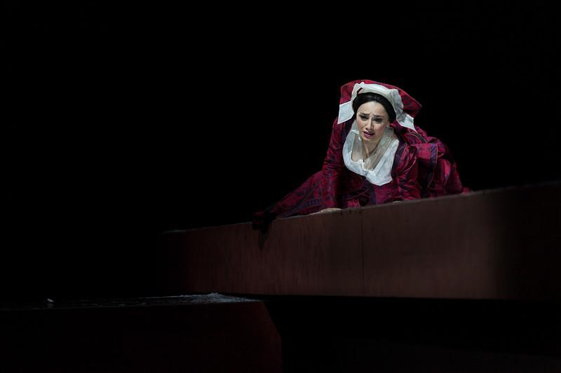 "Ketevan Kemoklidze (Mezzosoprano) sings Giovanna Seymour in the opera ""Anna Bolena"" (G. Donizetti, 1830). Teatro de la Maestranza, Seville."