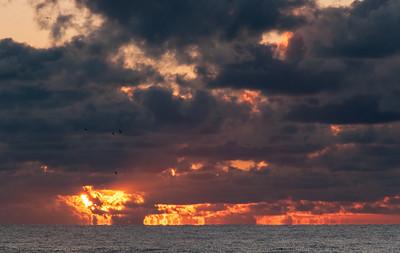 Edisto Sky on Fire