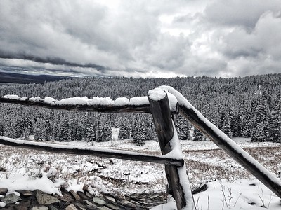 Snowy Dunraven Pass, Wyoming