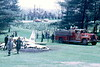 Hershey 1956 Oren pumper operates at an airplane crash in July, 1967