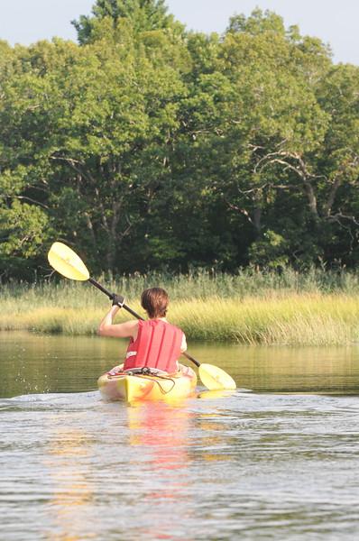 Kayaking on the Jones River