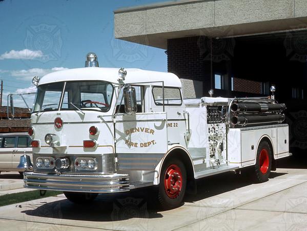 Mack 1968 C Model, Denver CO,  E22 1000 GPM