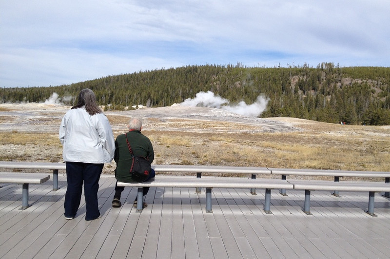 Waiting for Old Faithful, Yellowstone